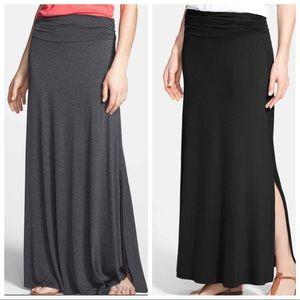 Bobeau Skirts Nwt Beautiful Red Asymmetrical Maxi Skirt
